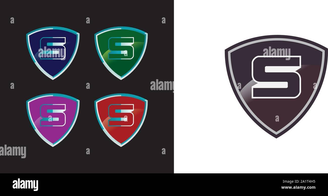 Lettre d'affaires, l'écran du logo Le logo de l'entreprise de sécurité prêt à l'emploi. Symbole abstrait de la sécurité. Logo de l'écran. Icône de bouclier. Logo de sécurité. Bouclier vecteur Illustration de Vecteur