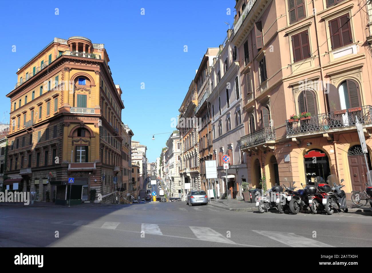 Rue de Rome, la vie quotidienne dans la ville Banque D'Images