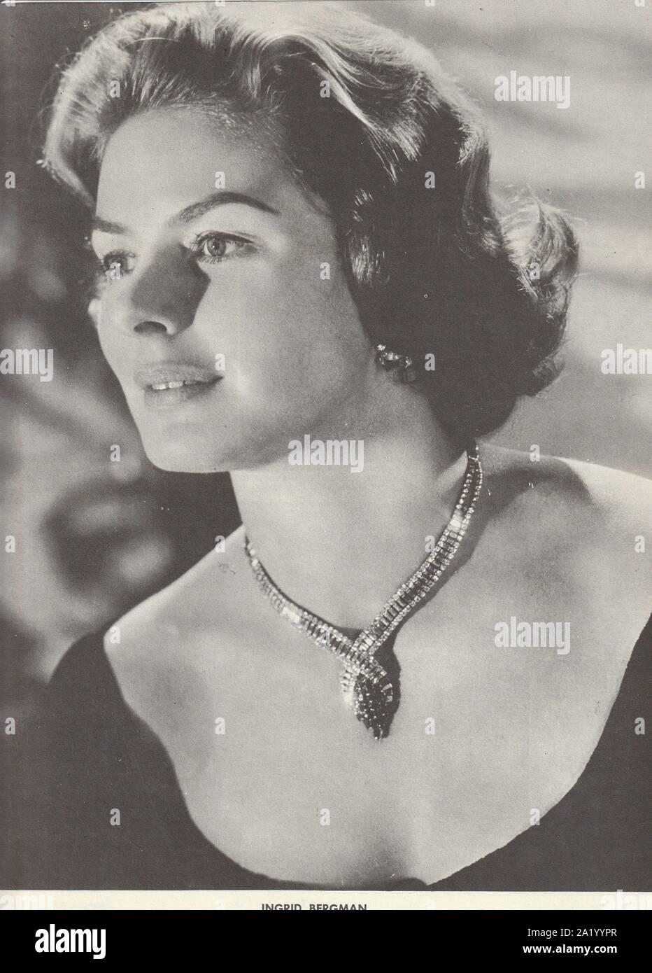 Ingrid Bergman (1915-1982), actrice d'origine suédoise, Academy Award Winner pour Gaslight, Anastasia, le meurtre de Orient Express. Banque D'Images