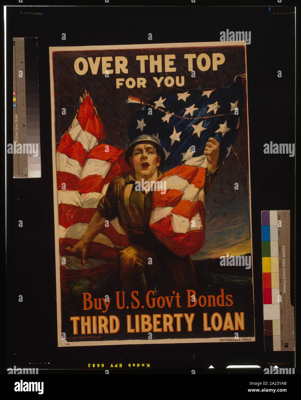Au-dessus du dessus pour vous - acheter des obligations du gouvernement des États-Unis, Troisième liberté prêt / Sidney H. Riesenberg. Banque D'Images