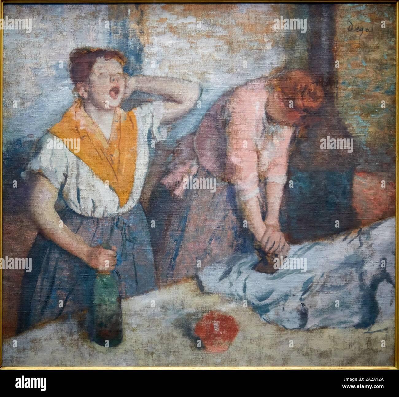 '''Repasseuses'', 1884-1886, Edgar Degas (1834-1917), Musée d'Orsay, Paris, France, Europe Banque D'Images