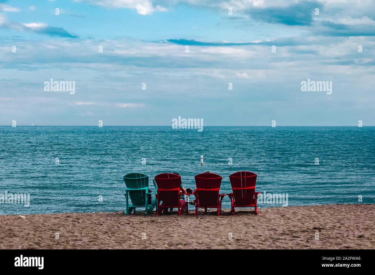 Les plages de Toronto, Ontario, Canada Banque D'Images