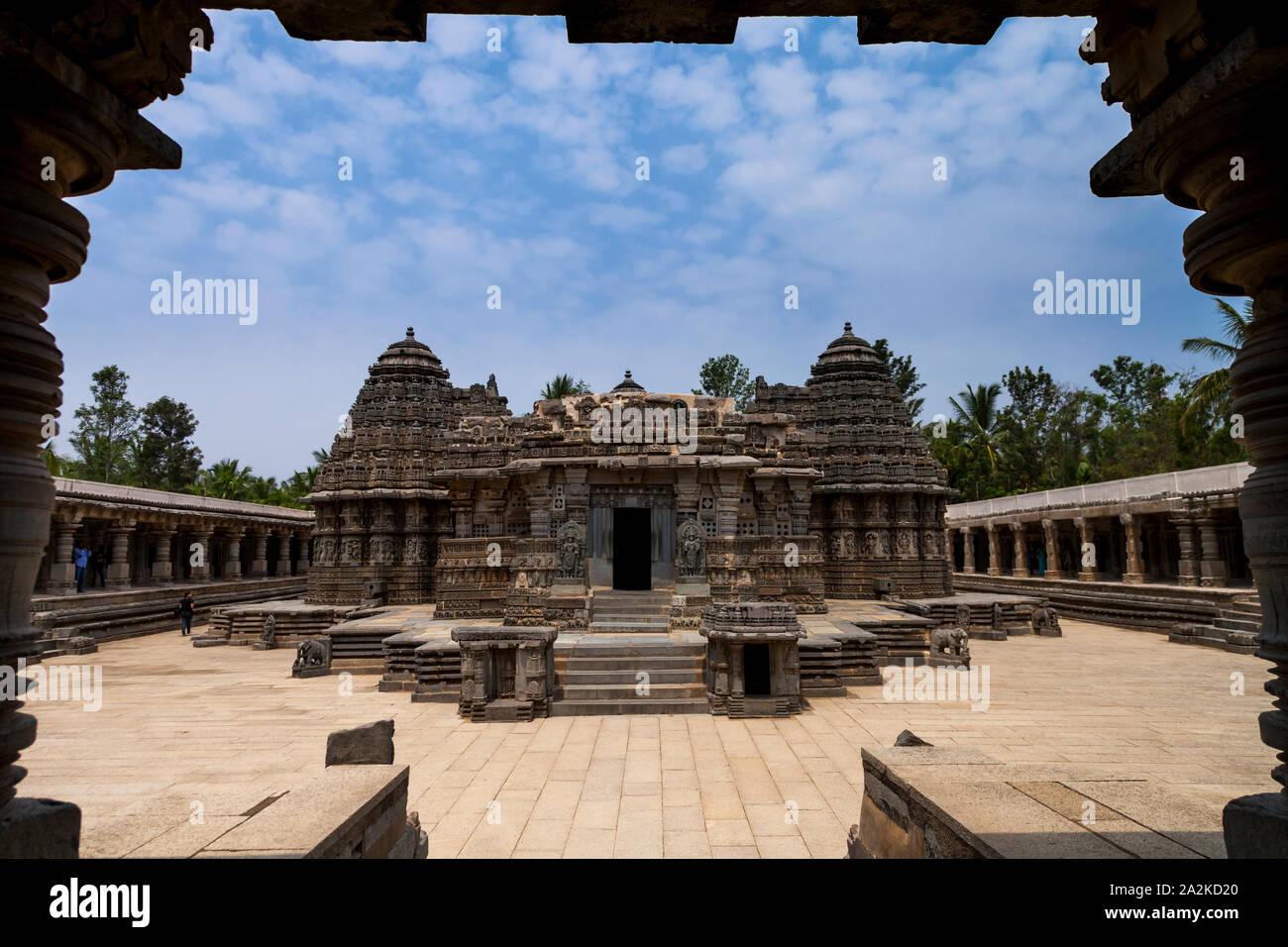 Chennakesava Temple, Somanathapura, Karnataka, Inde Banque D'Images