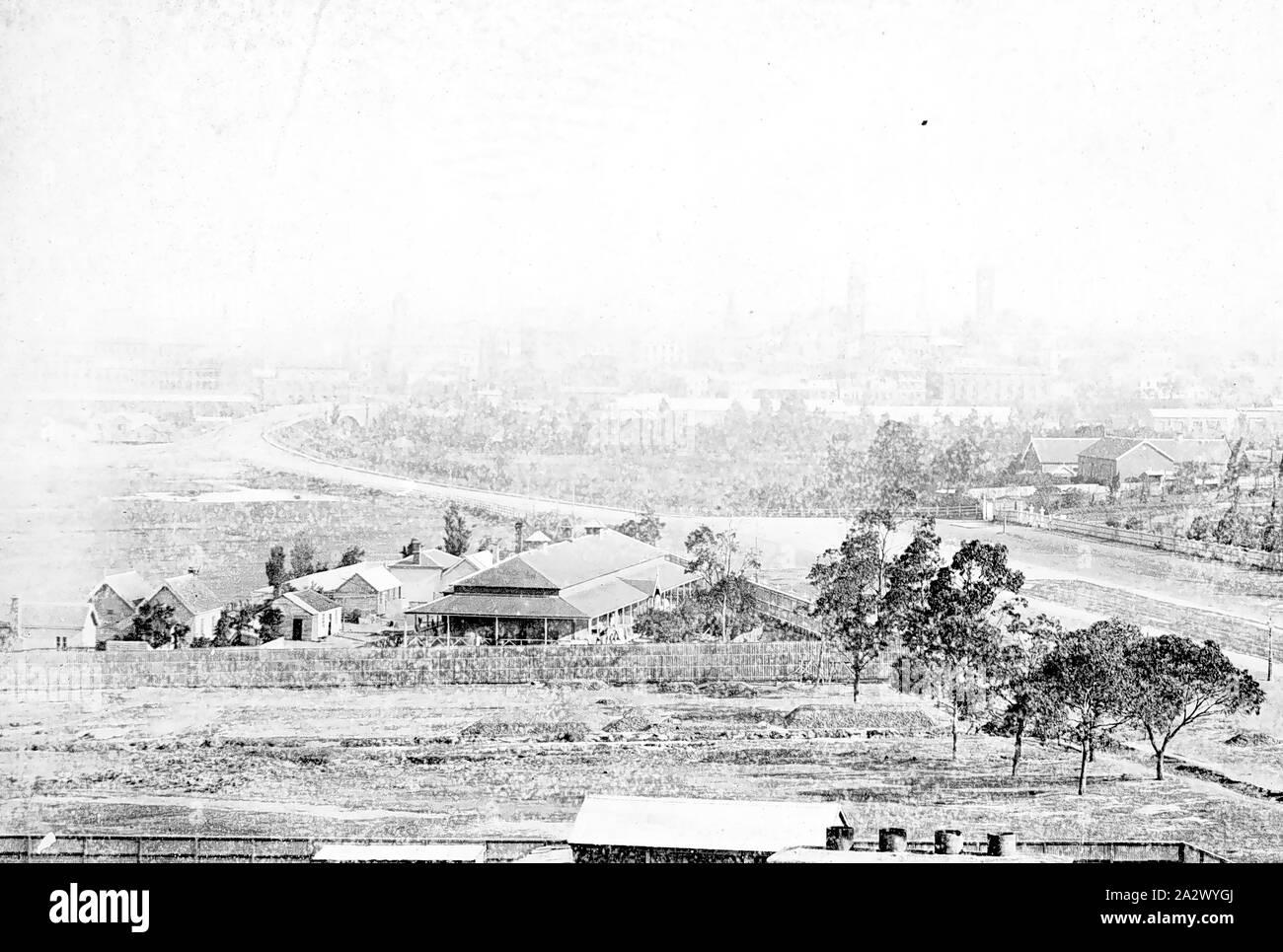 Négatif - Melbourne, Victoria, vers 1885, à partir de Melbourne St Kilda Rd Banque D'Images