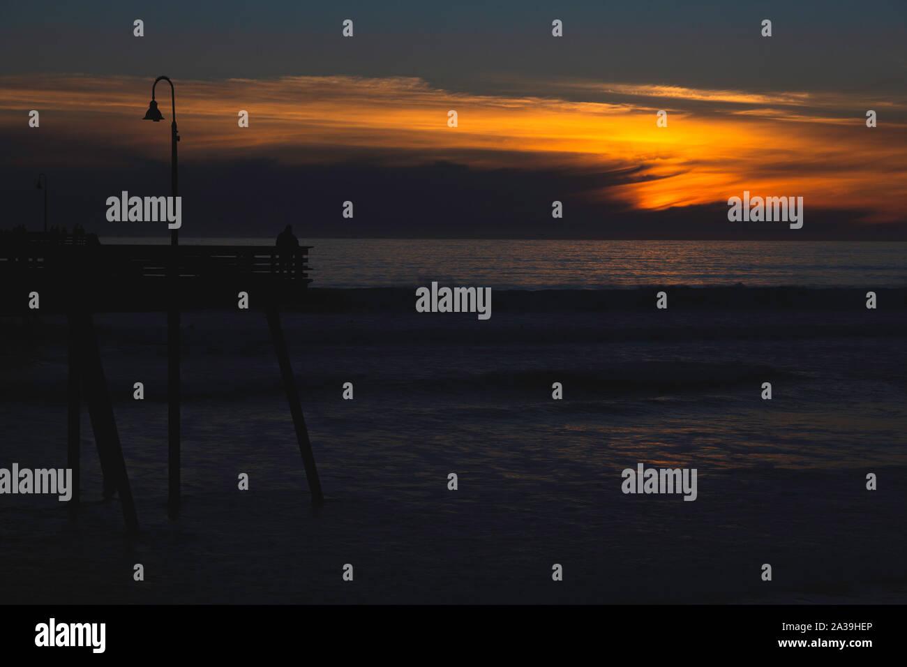Pismo Beach Sunset, Californie Banque D'Images