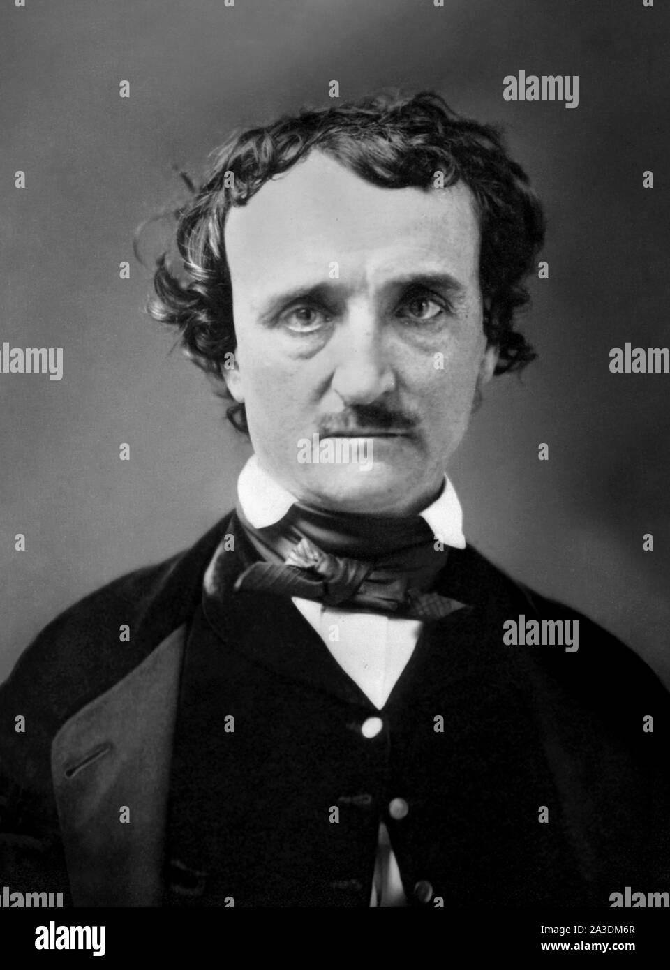 Edgar Allan Poe (né Edgar Poe; 1809-1849), à partir d'un daguerréotype, c.1849 Banque D'Images