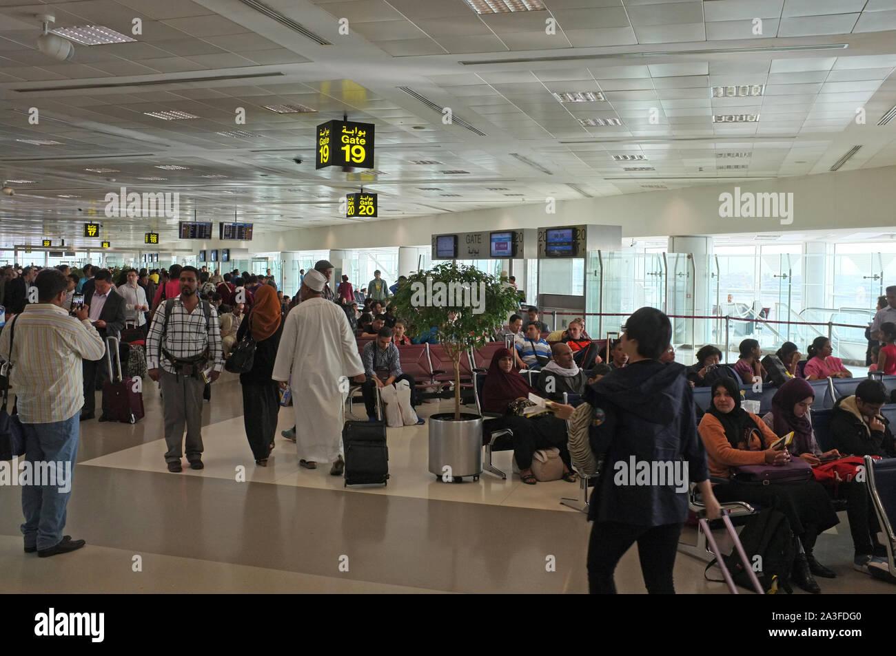 L'aéroport de Doha departure lounge Banque D'Images