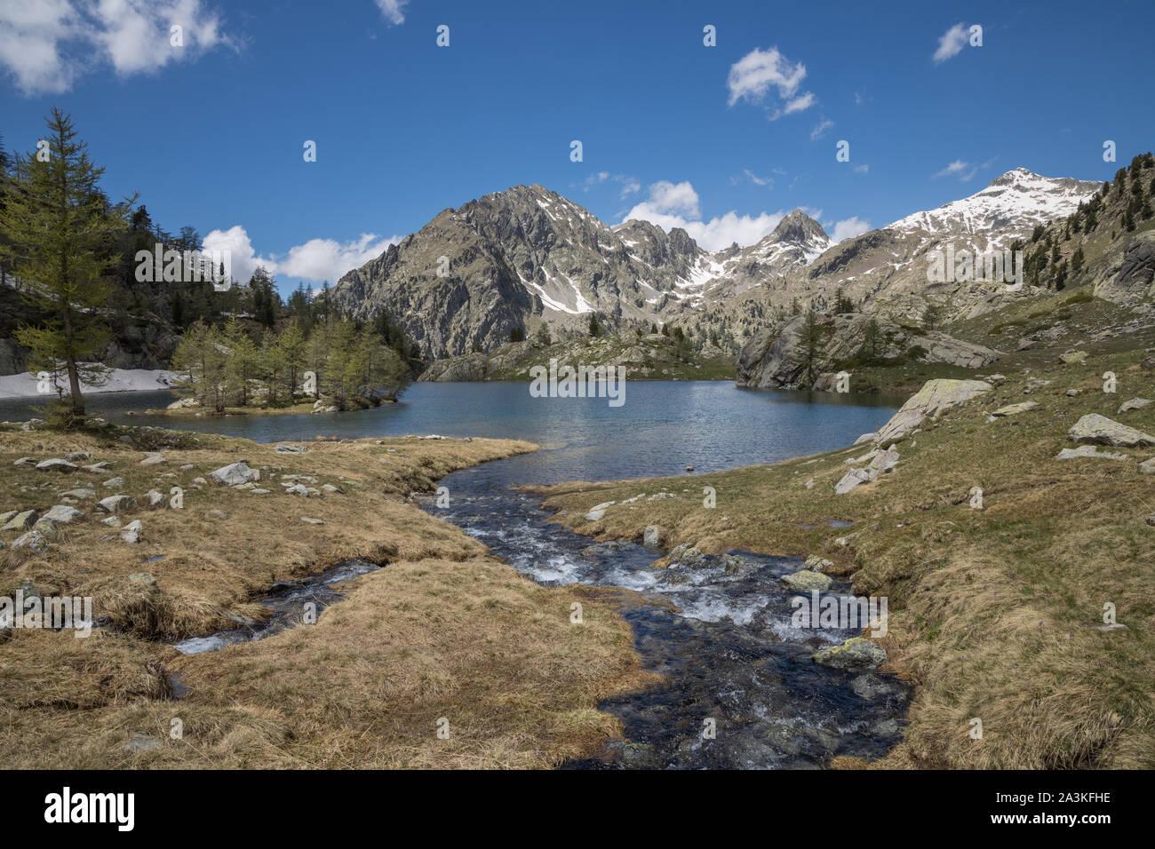 Lac de Trecolpas, Parc National du Mercantour, Alpes-Maritime, Provence, France Banque D'Images