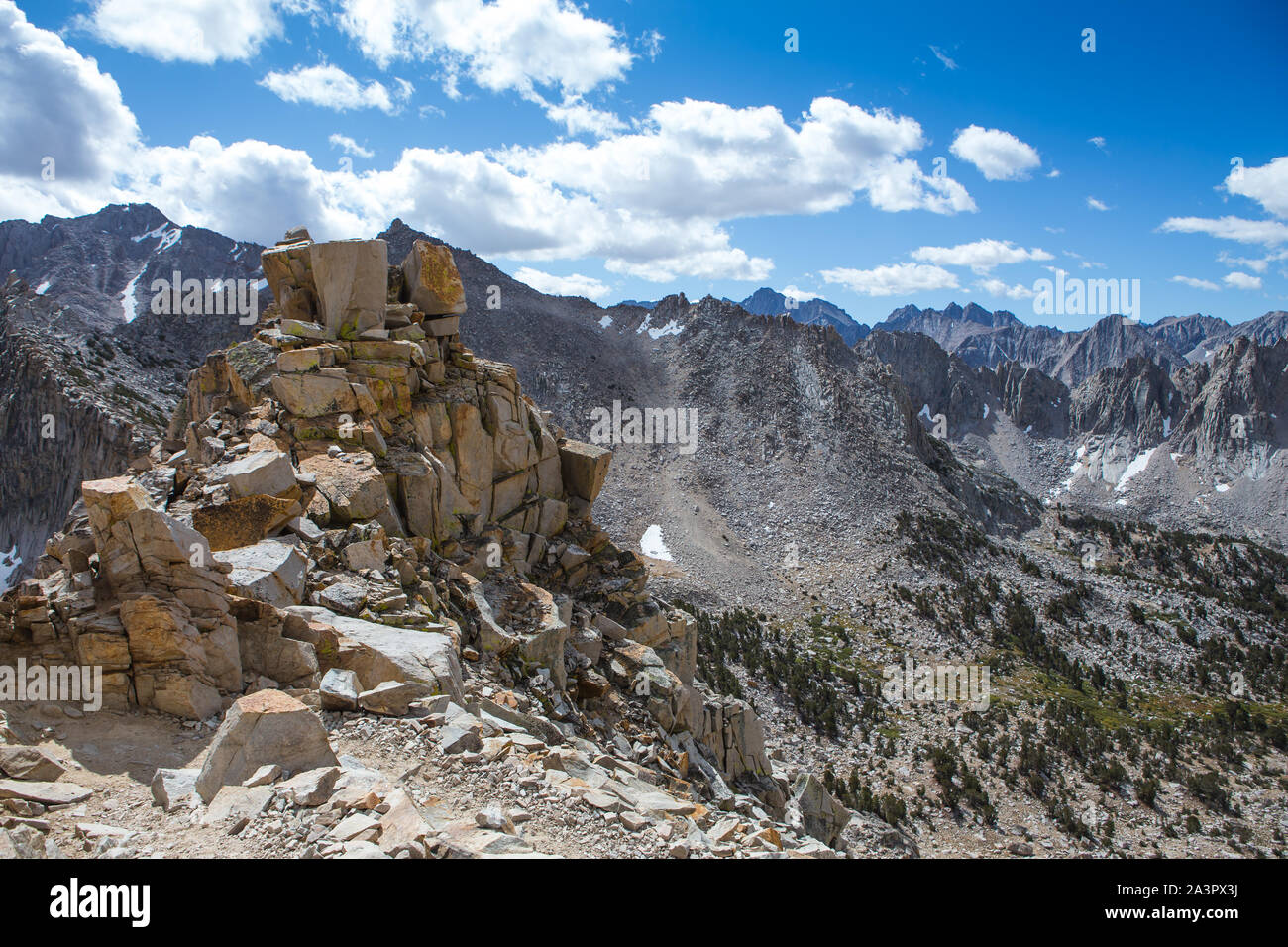 'Kearsarge Pass Trail' dans les montagnes de l'est de la Sierra Nevada. Californie , États-Unis Banque D'Images