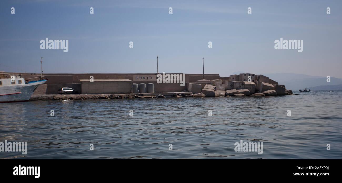 Bagnera en Sicile 9 Port Banque D'Images