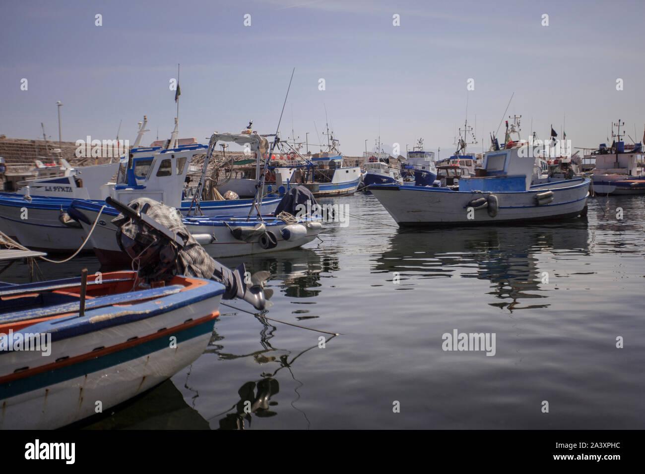 Bagnera en Sicile 3 Port Banque D'Images