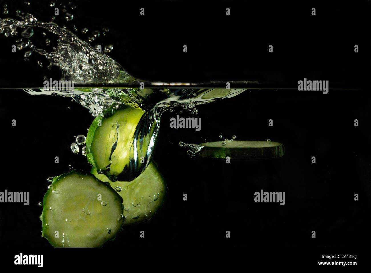 Vodka gin cocktail concombre gintonic bulles Banque D'Images