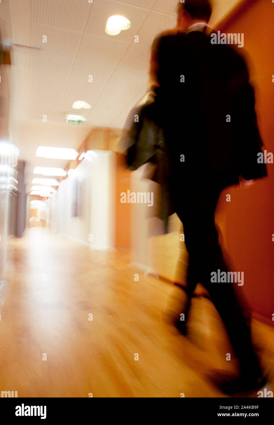 L'homme dans un bureau Banque D'Images