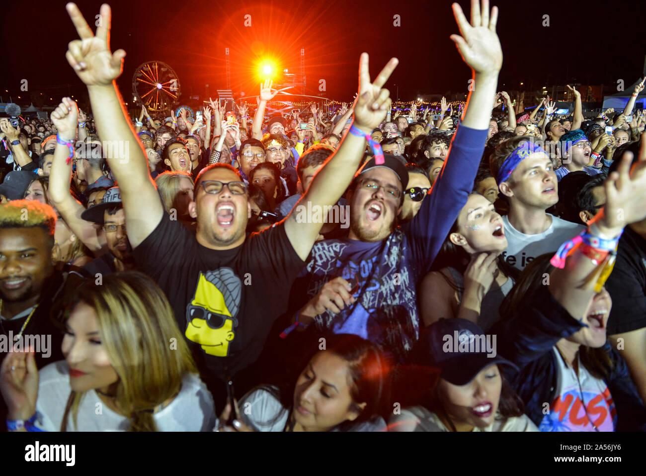 Les concerts foule Shot Banque D'Images
