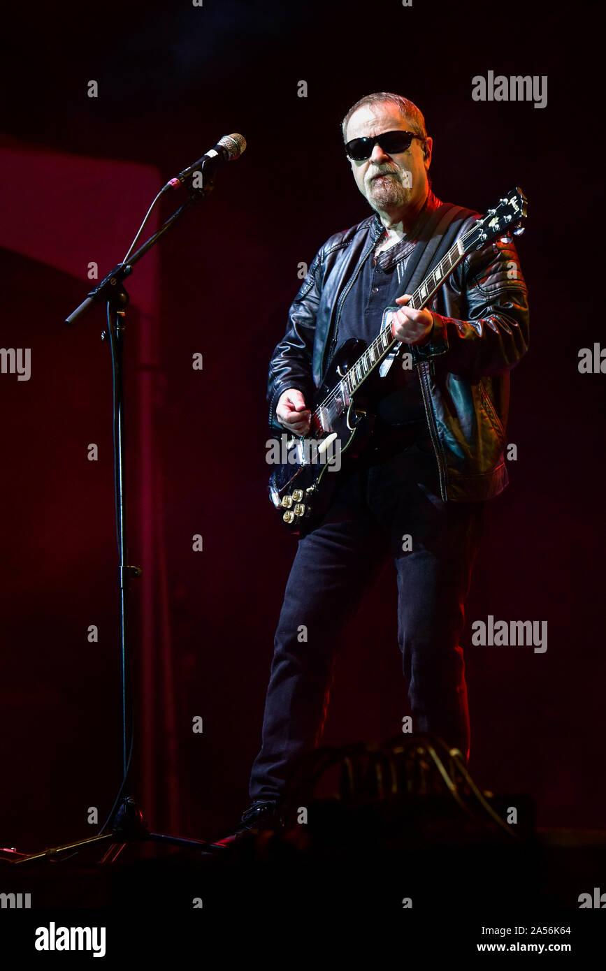 4 juillet 2019, Moapa Nevada, Eric Bloom de Blue Oyster Cult sur scène à la Moapa Event Center à Moapa, Nevada. Banque D'Images