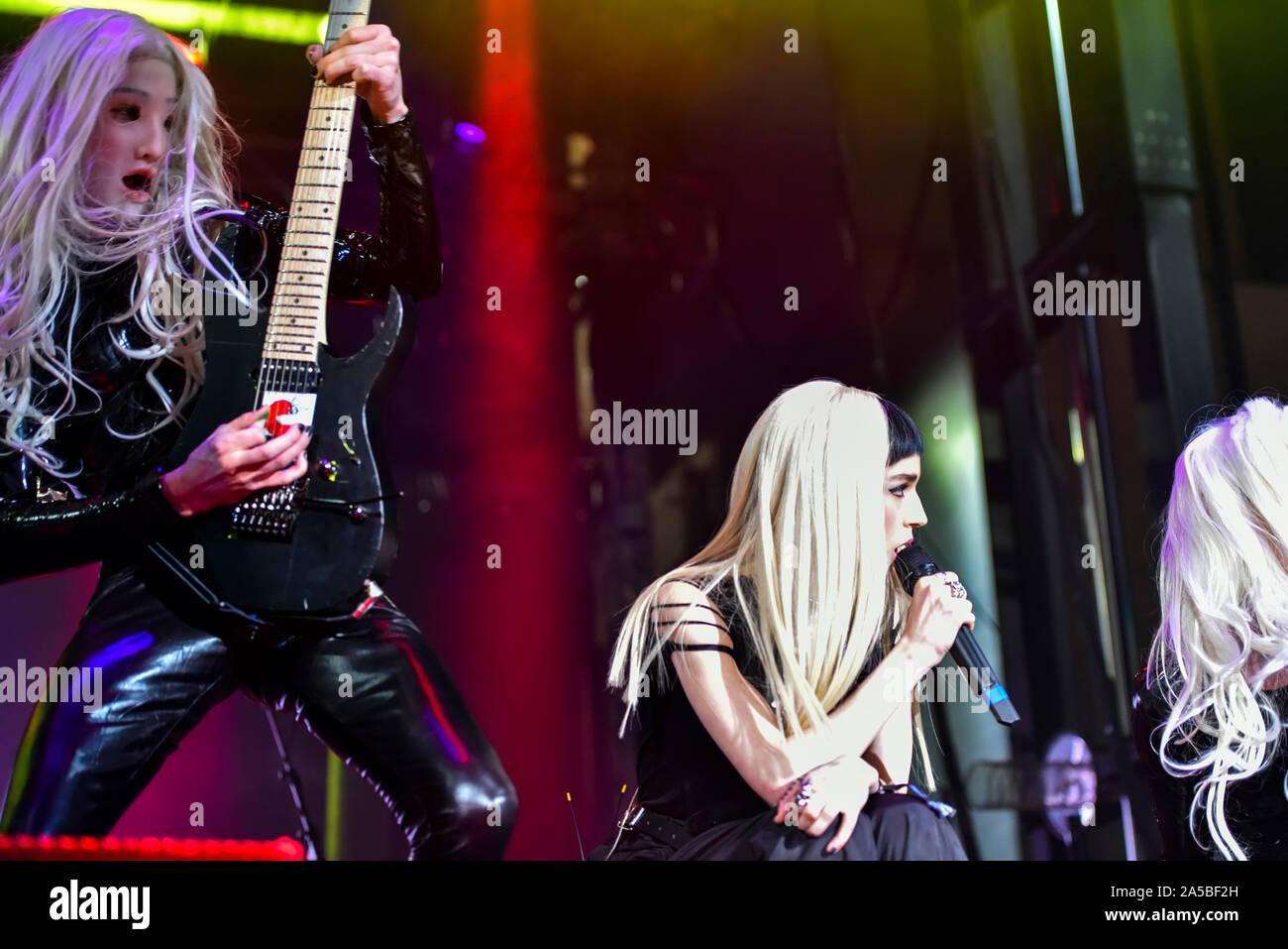 Las Vegas, Nevada, le 18 octobre 2019 - Le groupe de la scène du pavot en concert à la troisième édition annuelle de Las Stique heavy metal music festival tenu à la Centre-ville de Las Vegas Events Center. Crédit de photo: Ken Howard Images Banque D'Images