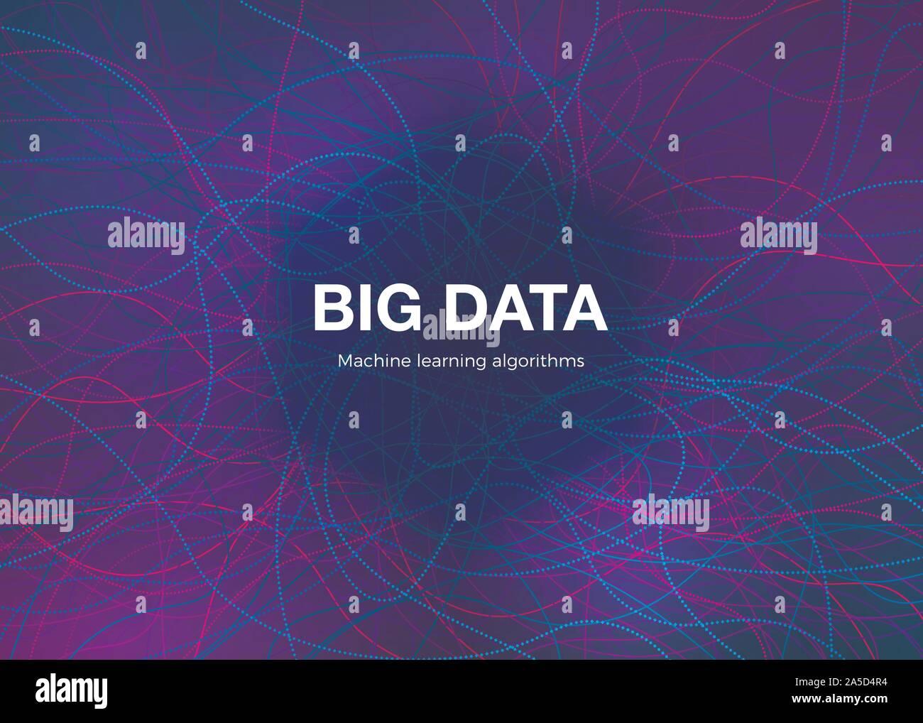 Concept de visualisation des Big Data. Résumé La technologie futuriste et Arrière-plan. La composition de la musique des vagues. Vector Illustration de Vecteur