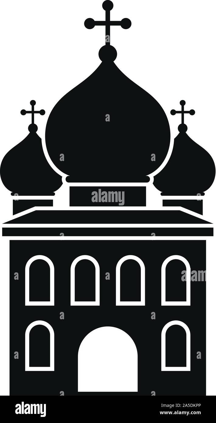 L'icône de l'église orthodoxe. Simple illustration de l'église orthodoxe icône vecteur pour la conception web isolé sur fond blanc Illustration de Vecteur