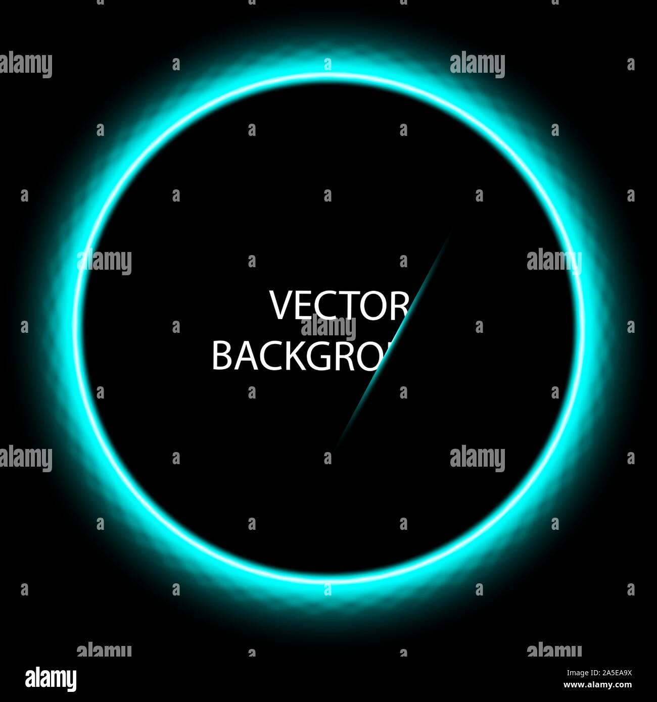 Dark dark blue abstract circle technologie contexte vecteur conception eps 10. Illustration de Vecteur