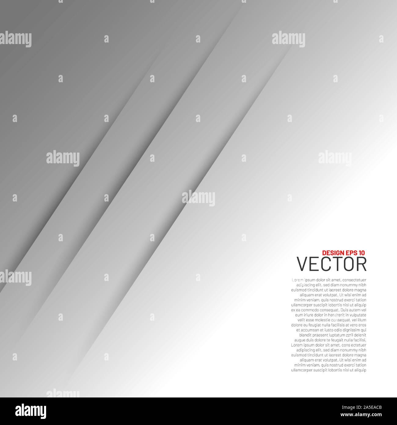 La couche de fond vecteur papier blanc avec l'espace pour le texte et de la conception des messages d'art moderne Illustration de Vecteur