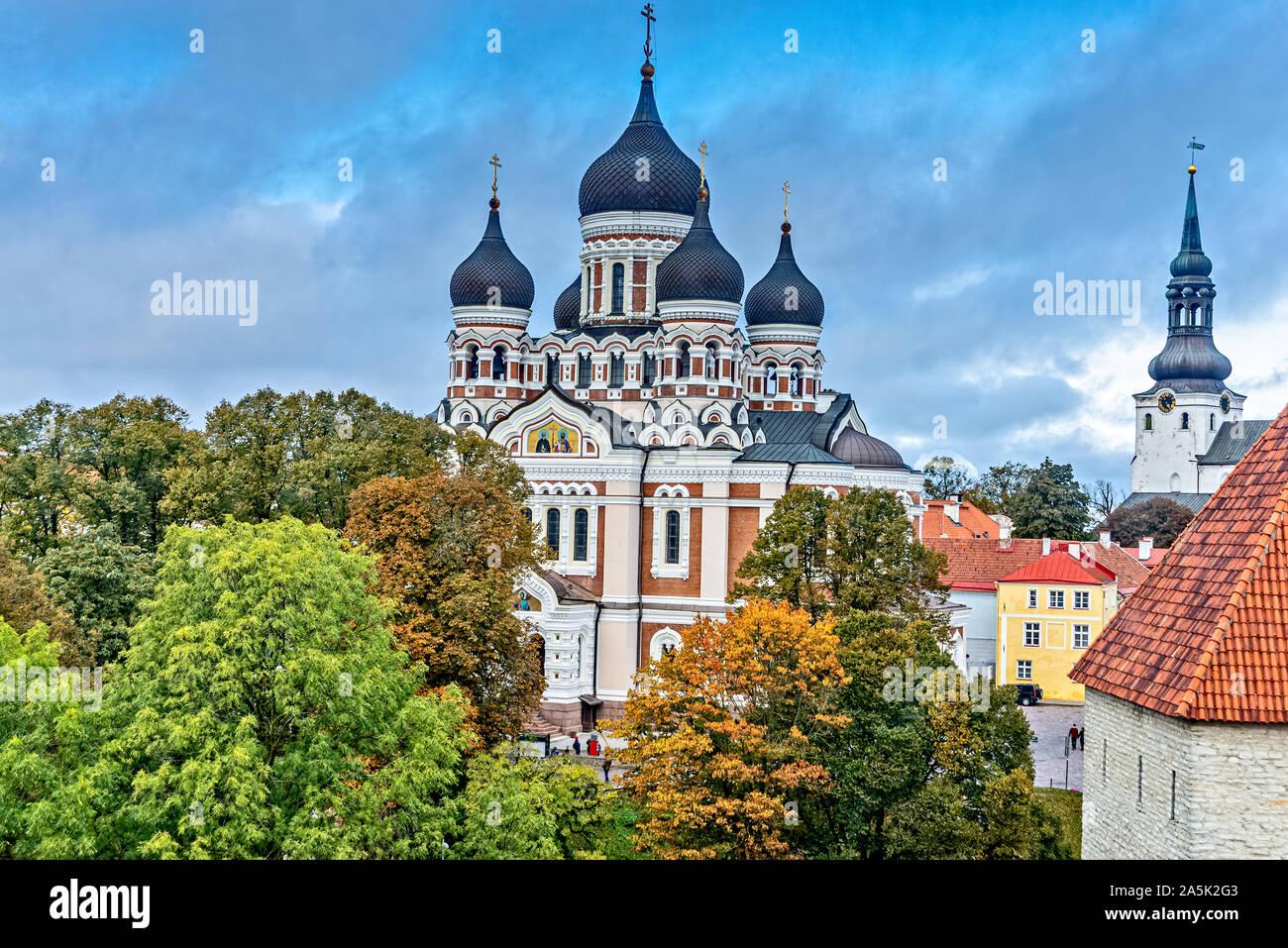 La cathédrale Alexandre Nevsky à Tallinn Estonie Banque D'Images