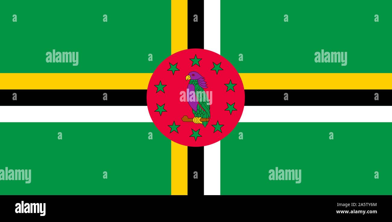 Nationalfahne, Flagge von Dominique, Kleine Antillen, Süd-amerika Banque D'Images