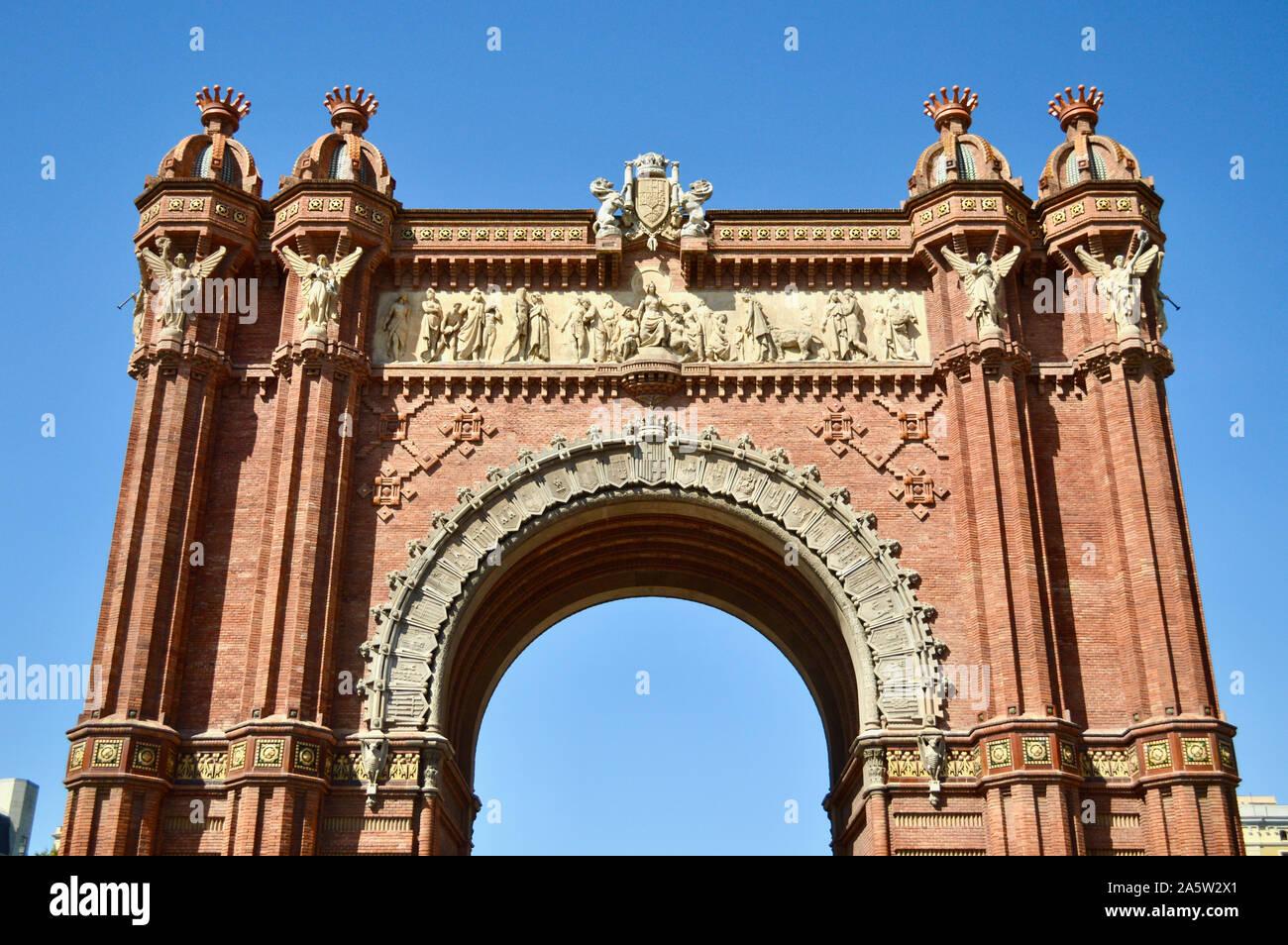 L'Arc de Triomphe à Barcelone, Espagne Banque D'Images