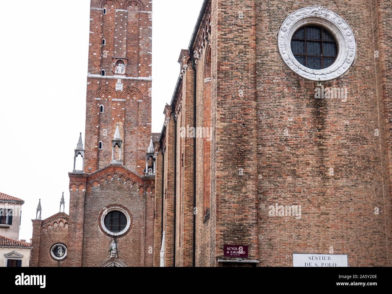 Italie, Vénétie, Venise, Santa Maria Gloriosa dei Frari Banque D'Images