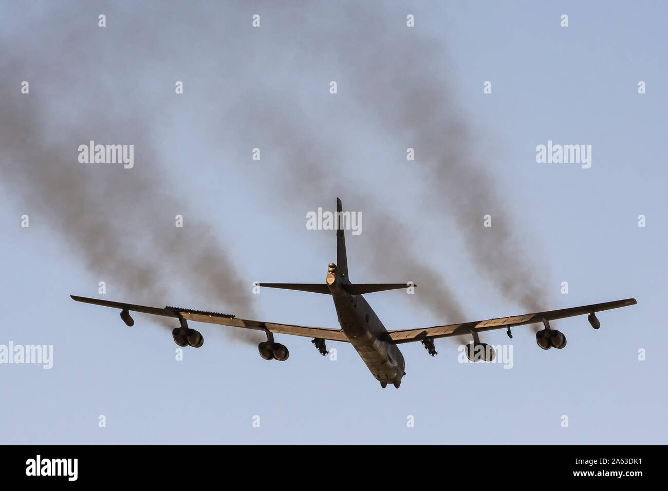 Boeing B-52 Stratofortress pendant deplyment à RAF Fairford Banque D'Images