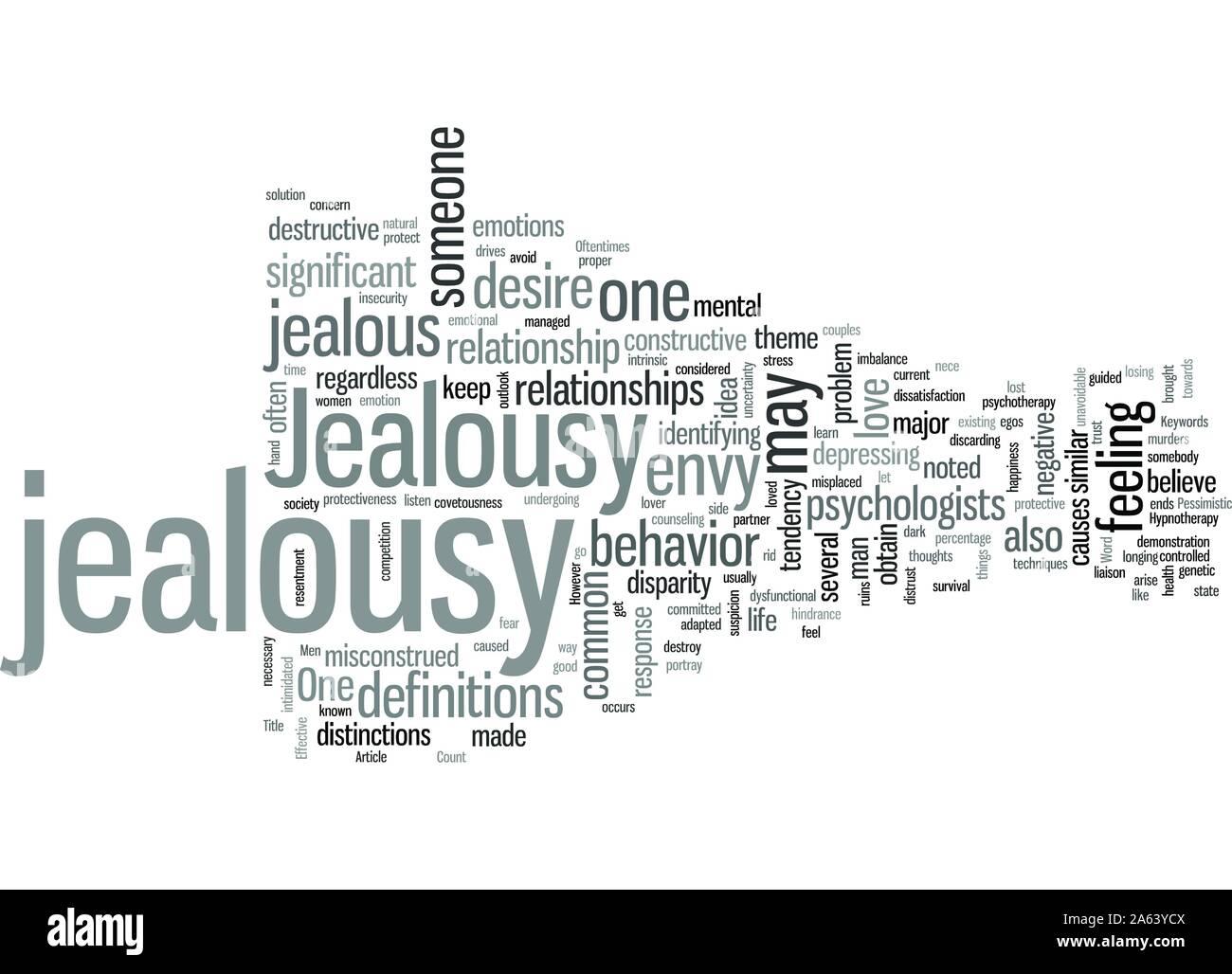 La jalousie et des solutions efficaces pour elle Illustration de Vecteur