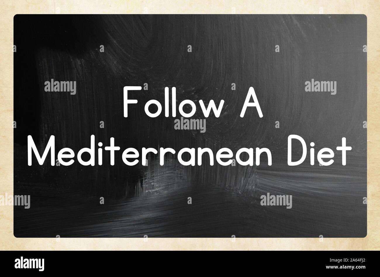 Suivre un régime méditerranéen Banque D'Images