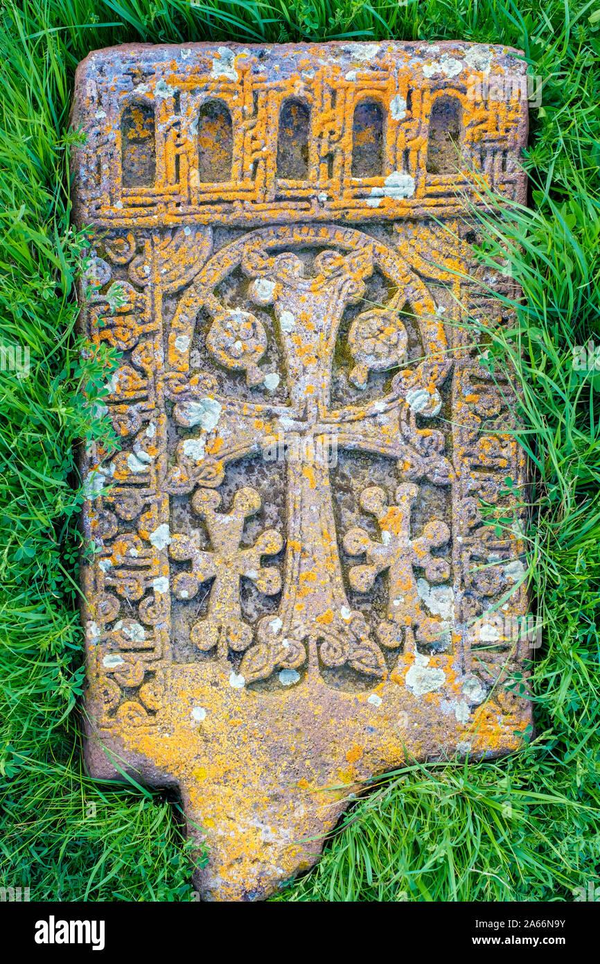 Khachars historique à Noratous Noratous (Noraduz, cimetière), Gegharkunik, Province de l'Arménie Banque D'Images