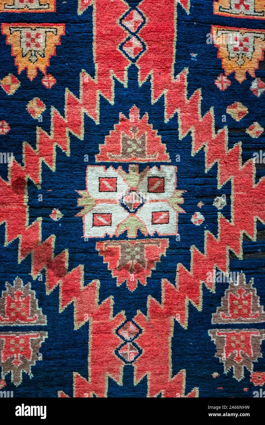 Tapis azerbaïdjanais traditionnels, l'Azerbaïdjan National Carpet Museum, Baku, Azerbaïdjan Banque D'Images