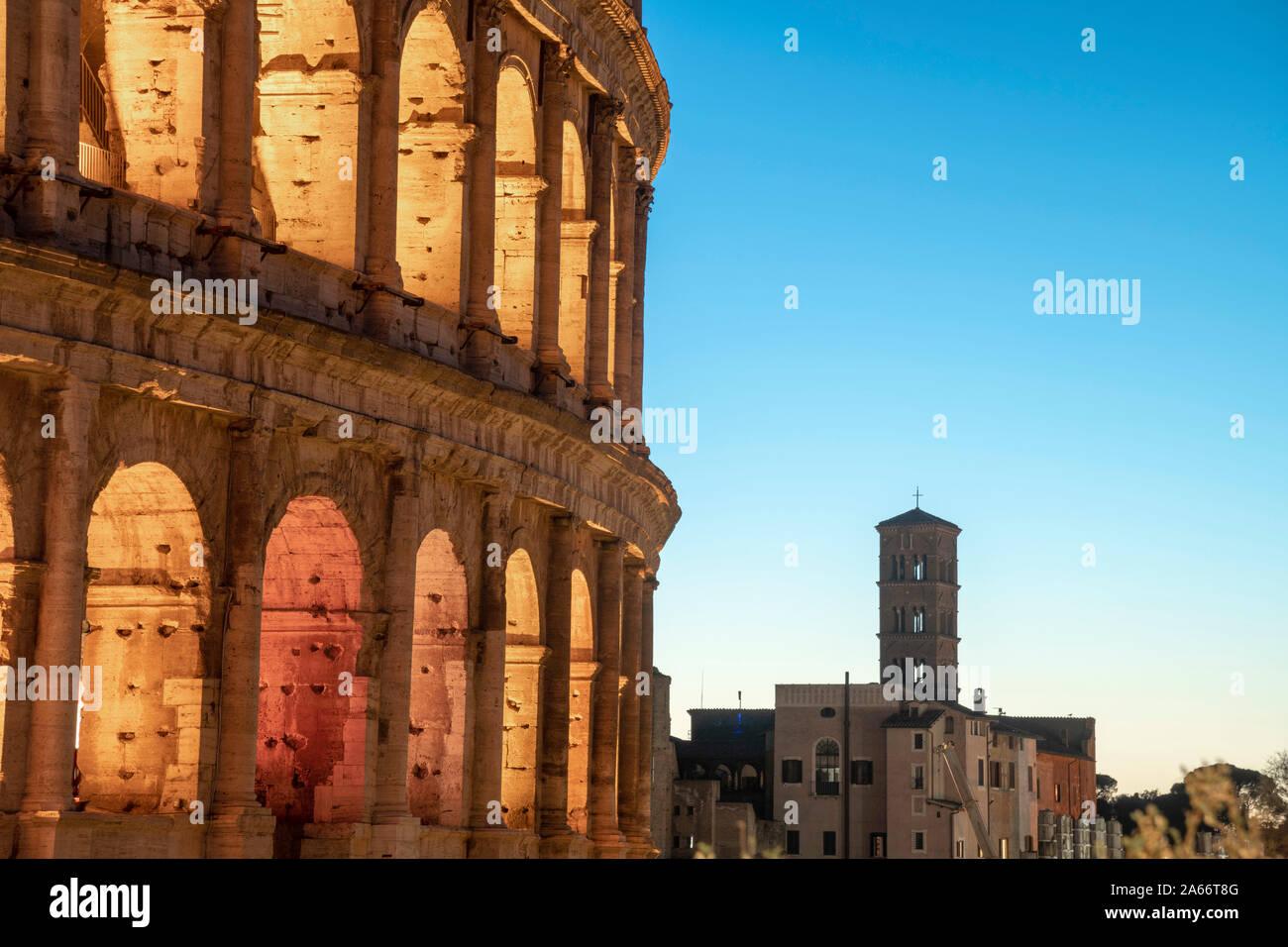 L'Italie, Lazio, Rome, Colosseum Banque D'Images