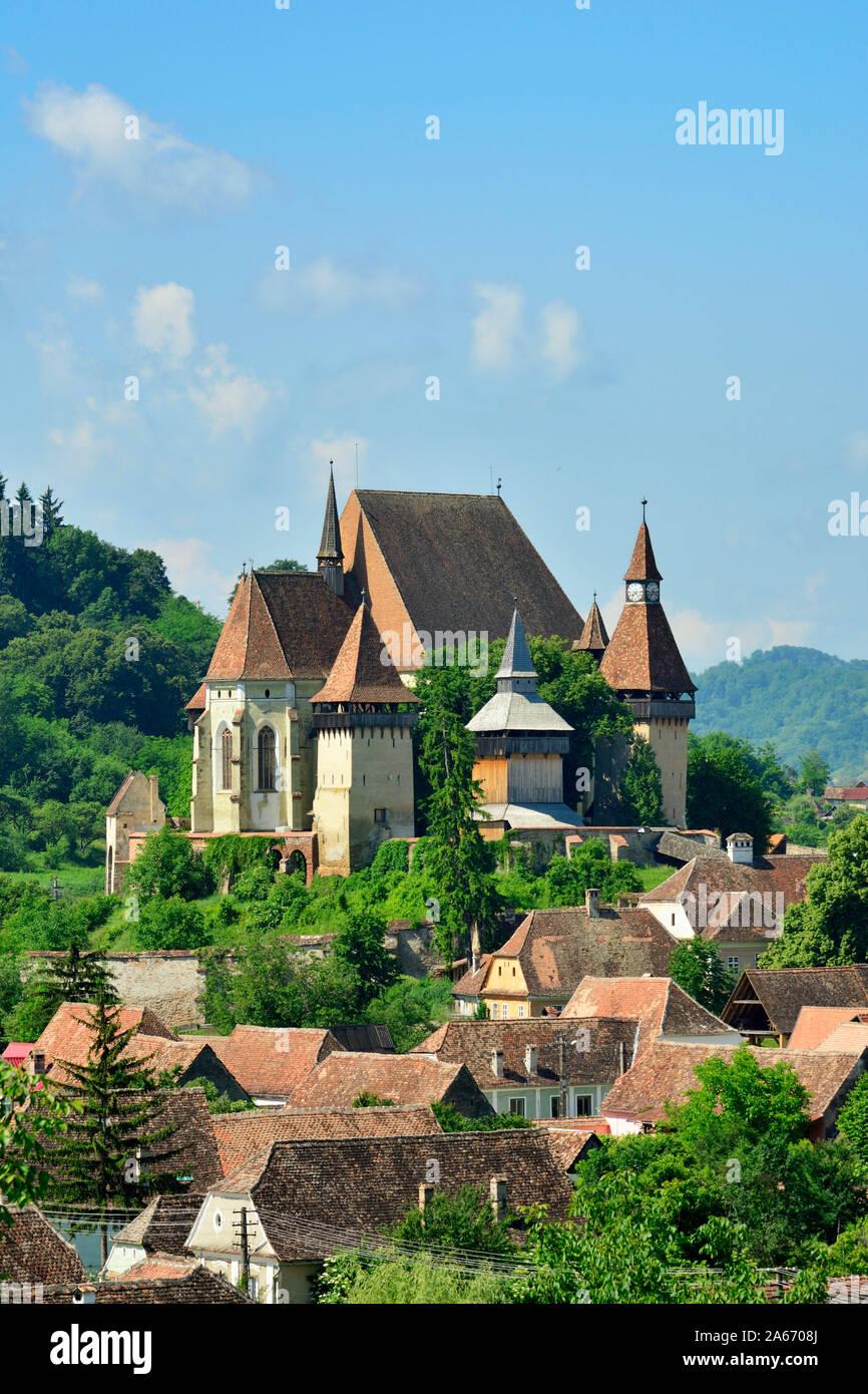 L'église fortifiée de Biertan, un village saxon en Transylvanie. Site du patrimoine mondial de l'Unesco. Comté de Sibiu, en Transylvanie. Roumanie Banque D'Images
