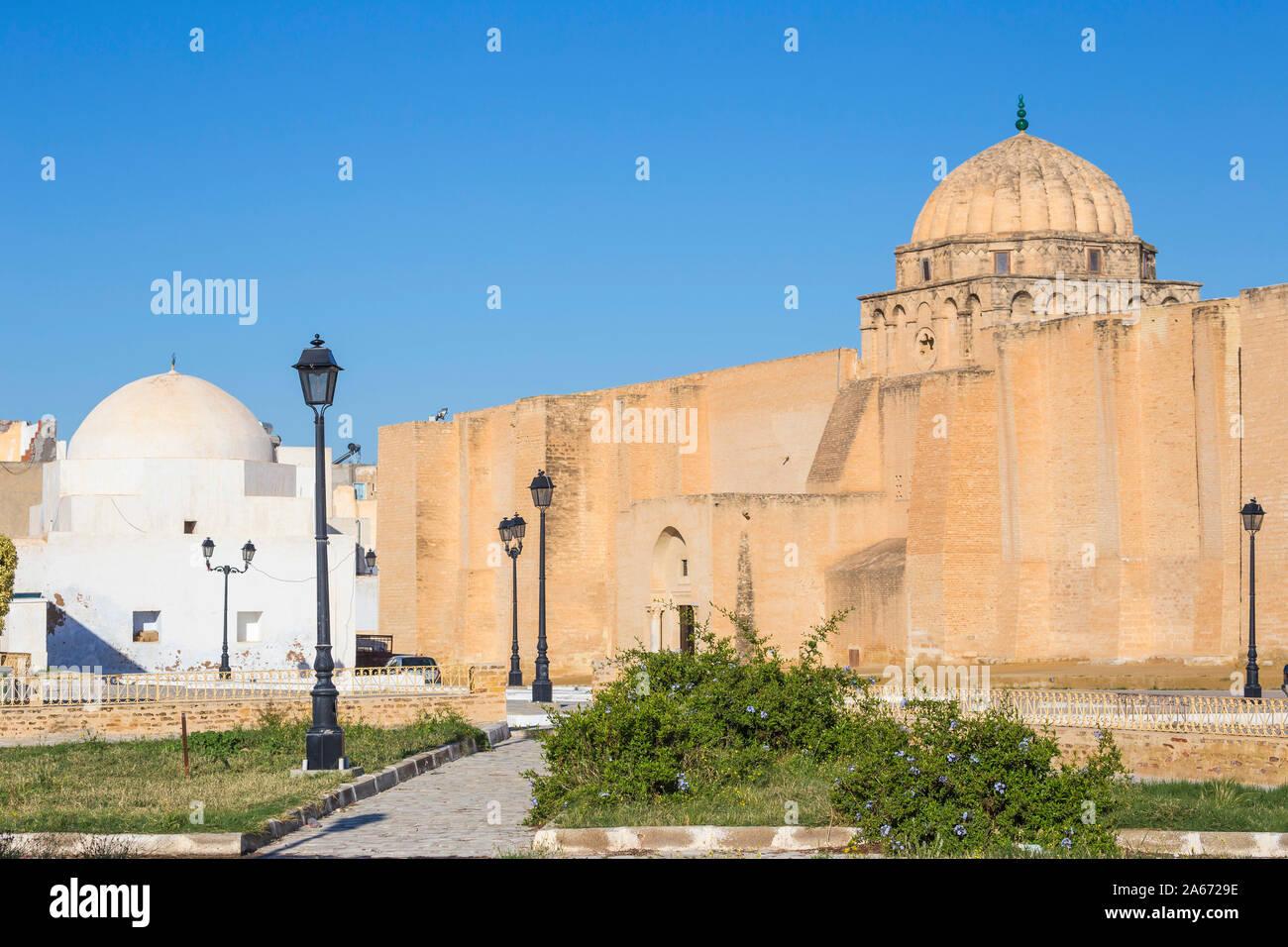 Tunisie, Kairouan, la Grande Mosquée Banque D'Images