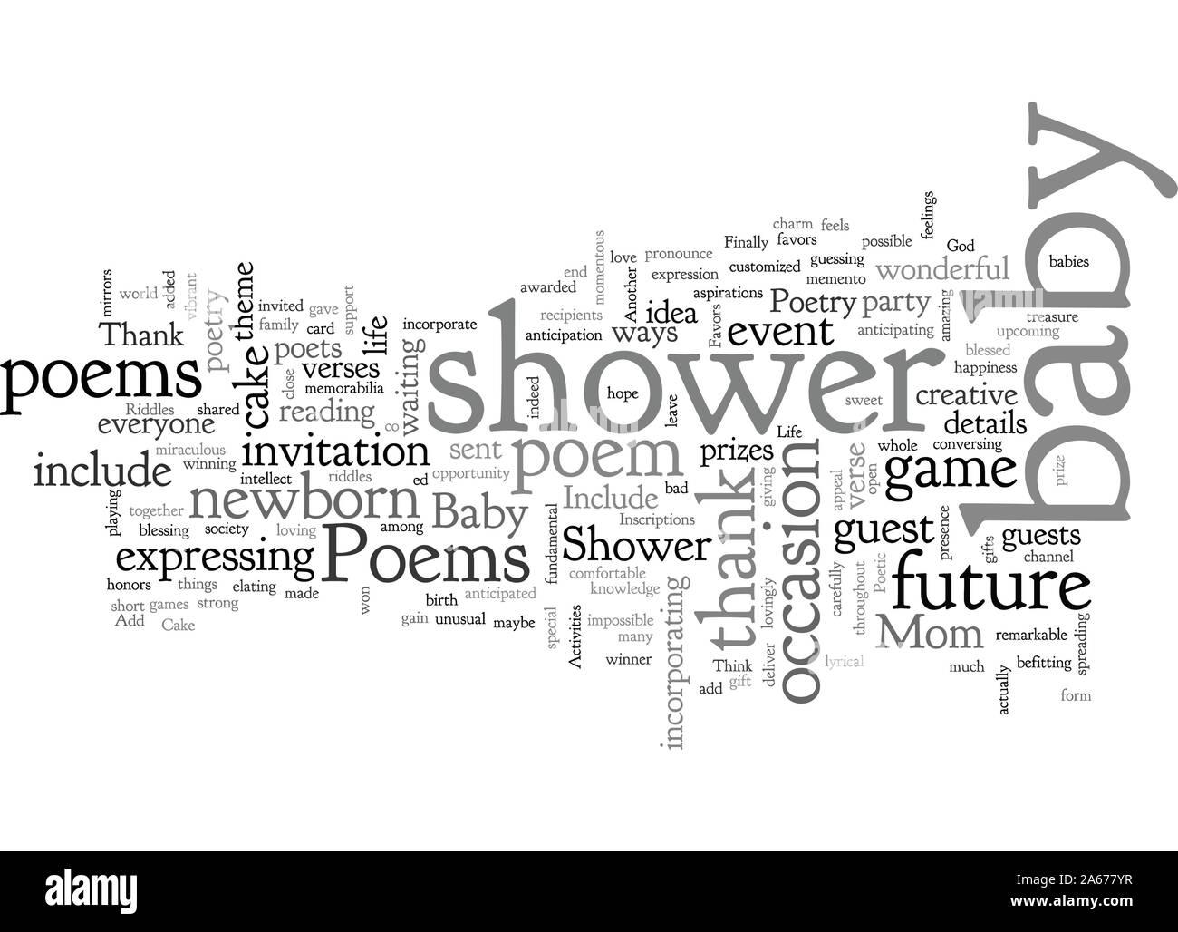 Poèmes de douche de bébé Illustration de Vecteur