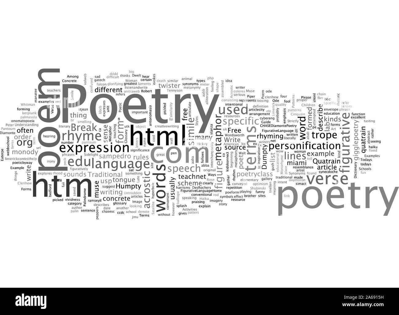 Un guide de styles de poésie Conditions Illustration de Vecteur