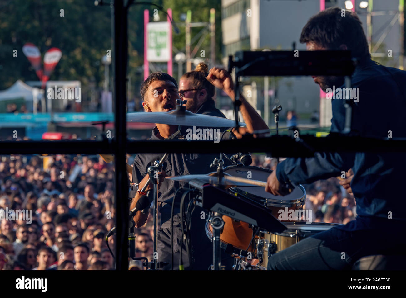 MADRID - SEP 7: Miss Caffeina (band) produisent en concert à Dcode Music Festival le 7 septembre 2019 à Madrid, Espagne. Banque D'Images