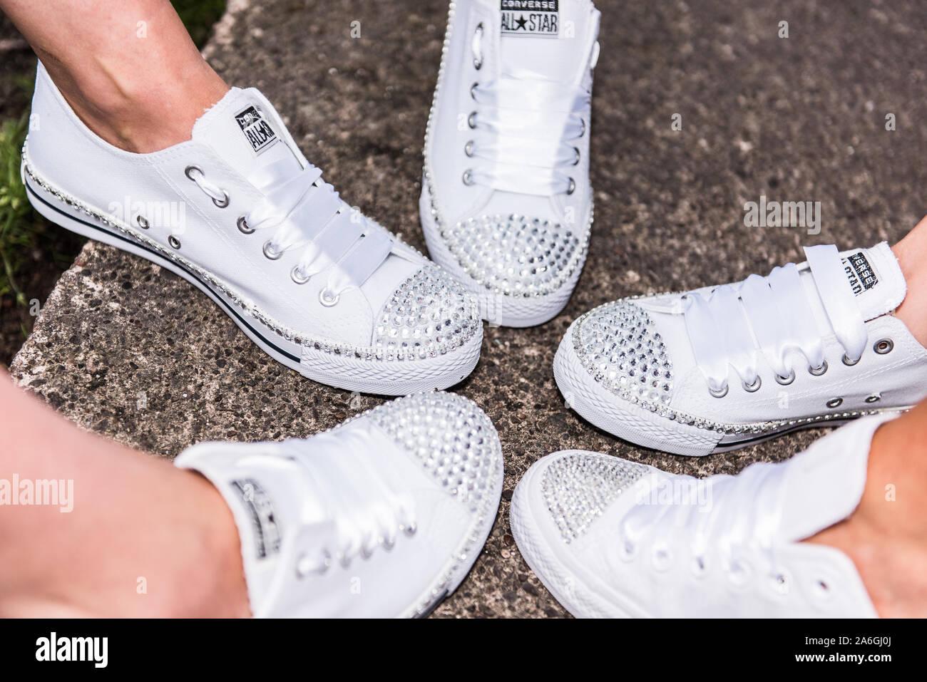 basket converse blanche mariage