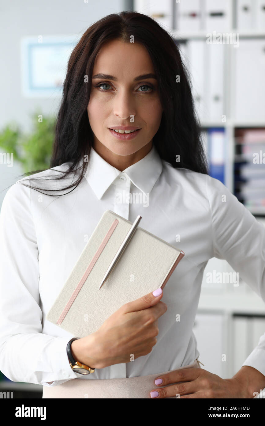 Belle femme manager Banque D'Images