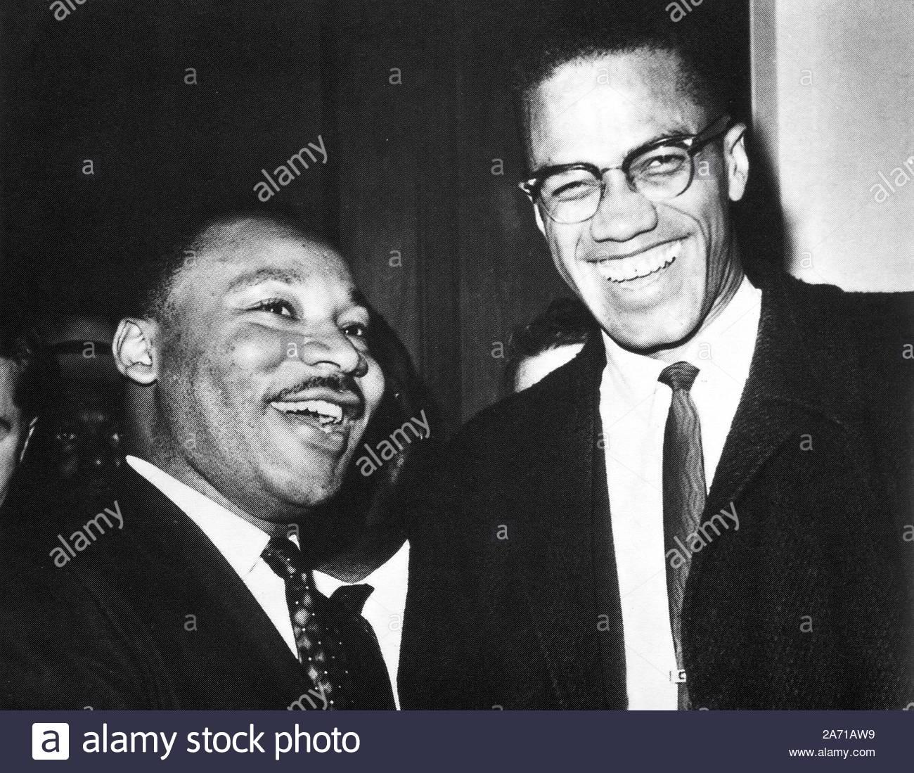 Martin Luther King Jr et Malcolm X: 452323 Crédit Photos/MediaPunch_Globe Banque D'Images
