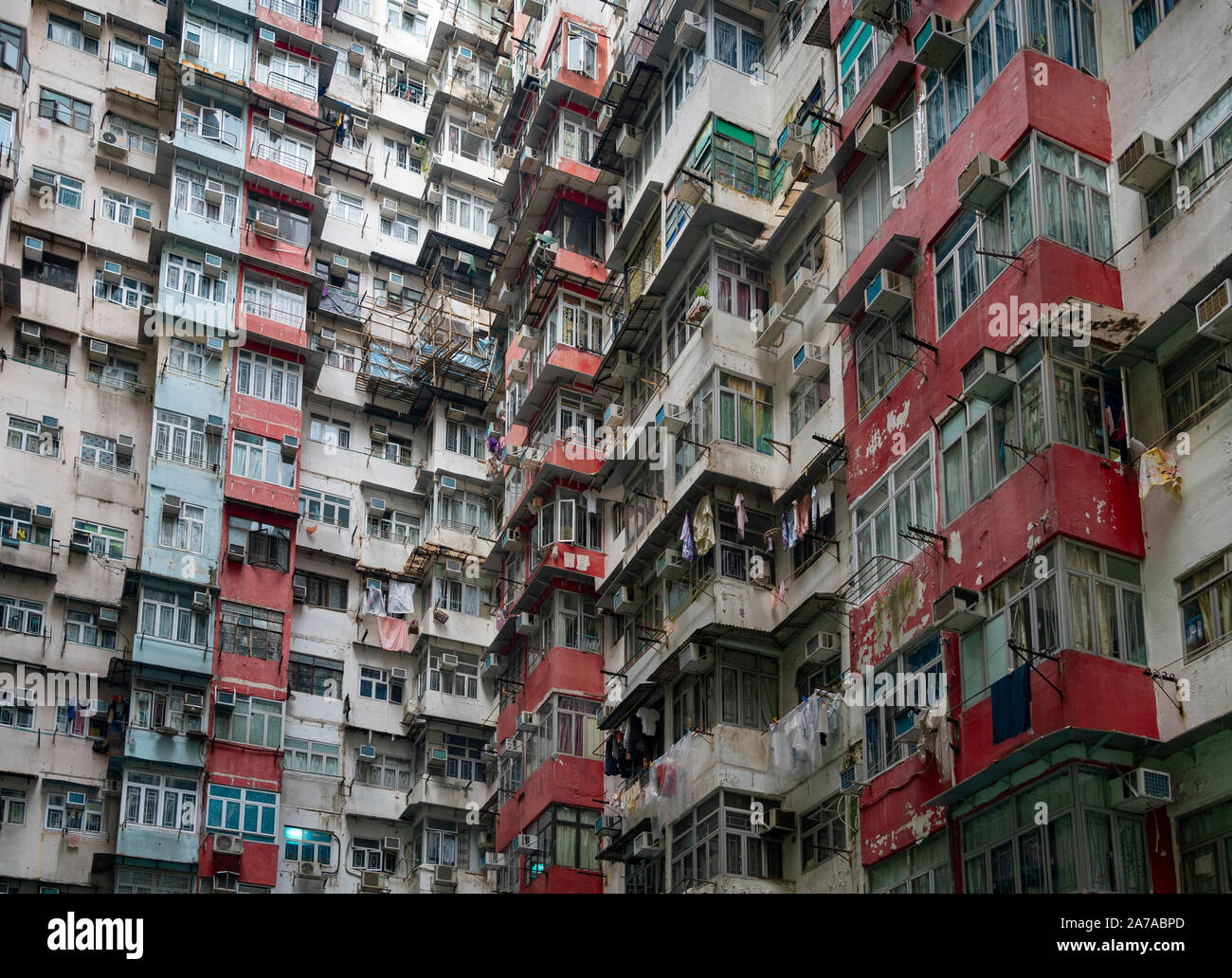 Appartement résidentiel urbain à forte densité de population montagnarde bloc Mansion dans Quarry Bay à Hong Kong Banque D'Images