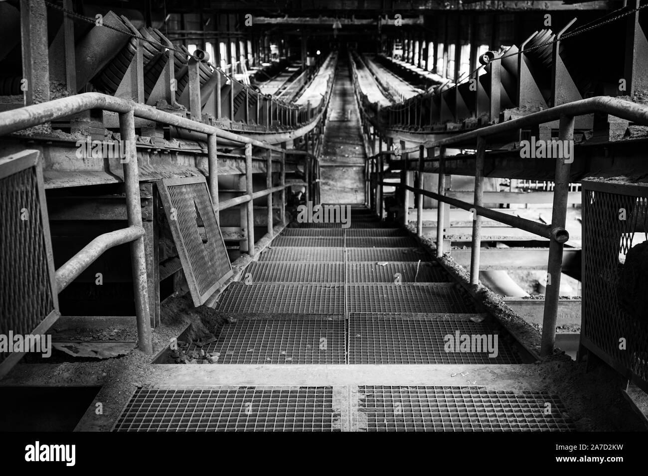 Urbex, ancienne usine voler, Belgique Banque D'Images