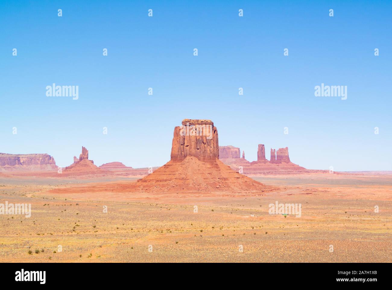 Paysage avec des buttes de Monument Valley, Utah, United States of America Banque D'Images