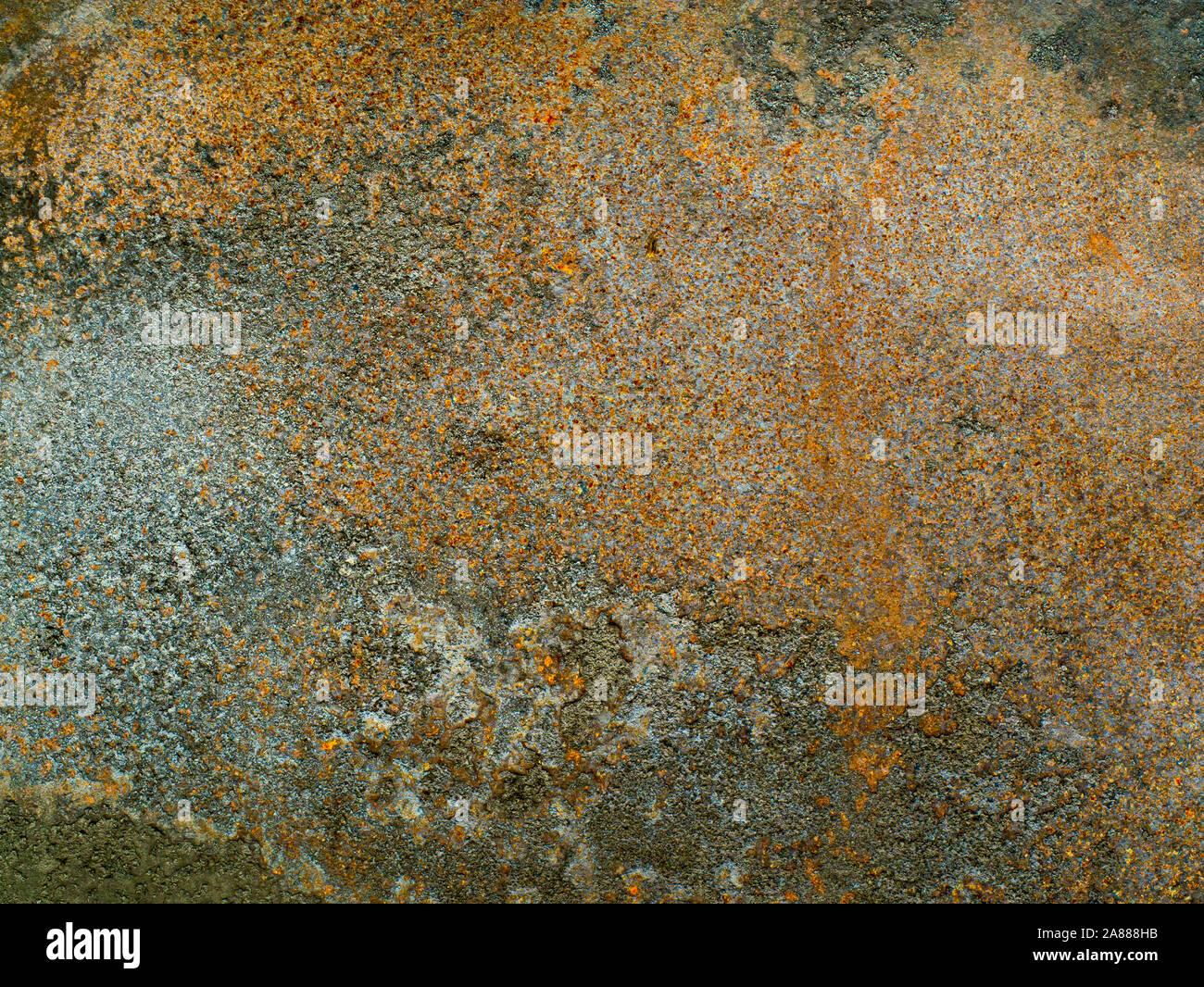 Old rusty brown plaque métallique est vieux et rouillés. fond métallique. texture de grungy châssis et tache de corrosion. Banque D'Images
