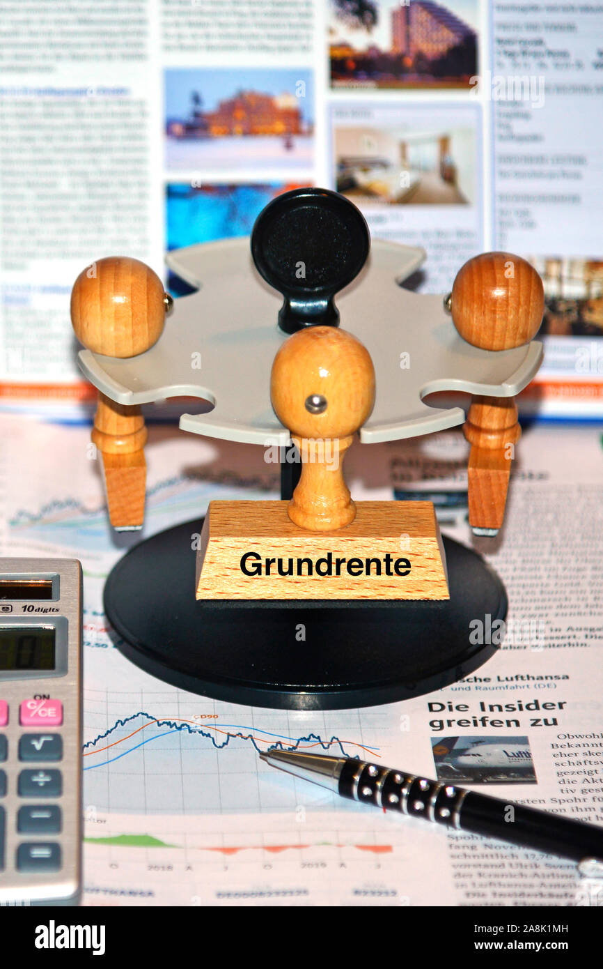 Stempel mit der Aufschrift: Grundrente, Banque D'Images