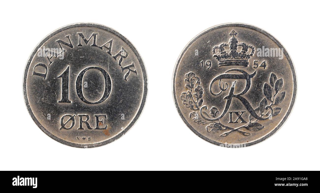 10 øre Coin du Danemark Banque D'Images
