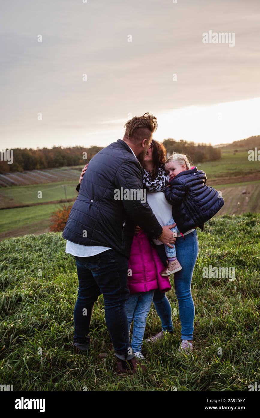 Famille ensemble Banque D'Images