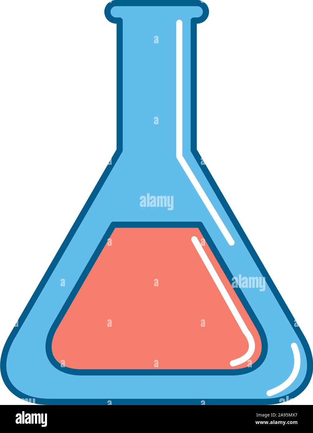 Icône fiole design, fond de la recherche en chimie Laboratoire des sciences de la technologie et la biologie thème Vector illustration Illustration de Vecteur